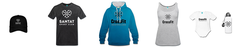 Boutique Spreadshirt Santat Sport Club - Crossfit® Montpellier - CrossFit® Castelnau-le-Lez : https://shop.spreadshirt.fr/santat-sport-club/